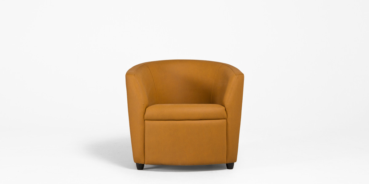Camel Leather Club Chair CHR012995