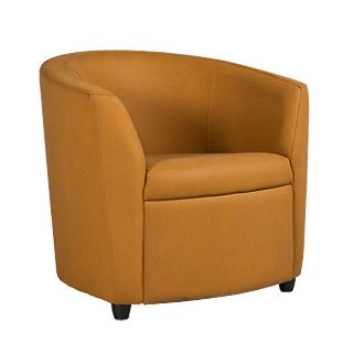 Camel Leather Club Chair CHR012995