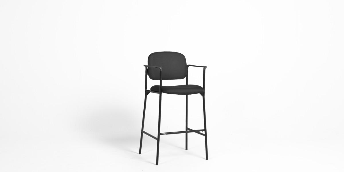 Black Fabric Bar Stool CHR013188