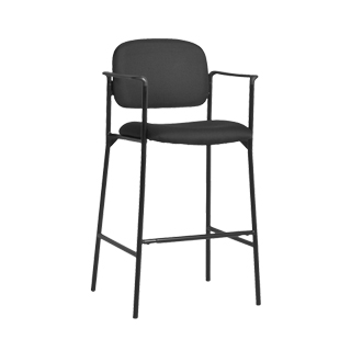 Black Fabric Bar Stool CHR013188
