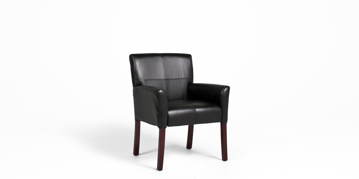 Black Leather Guest Chair Chr013370 Arenson Office