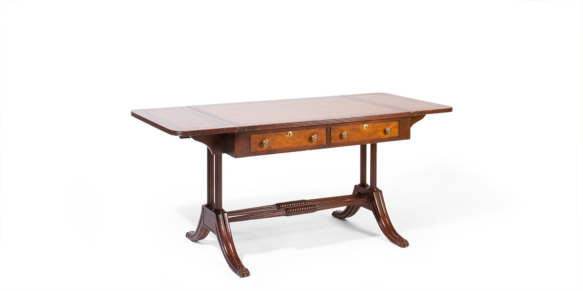 "42.24-64""w x 28""d Mahogany Table Desk DSK001354"