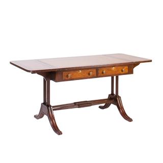 "42.24-64""w x 28""d Mahogany Table Desk DSK001354"