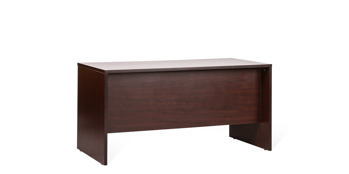 "59.25""w x 29""d Mahogany Laminate Desk DSK007719"