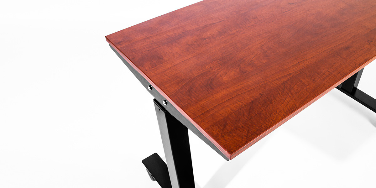 "47.5""w x 23.75""d Cherry Height Adjustable Desk DSK013716"