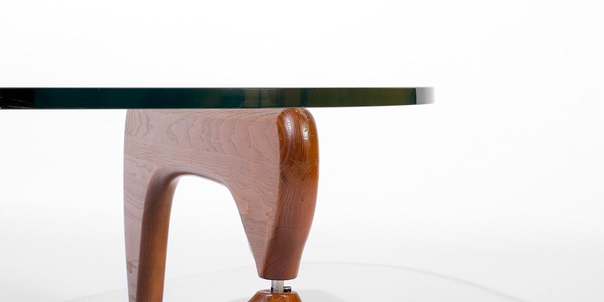 """50""""w x 36""""d Noguchi Walnut Coffee Table TBL006852"""
