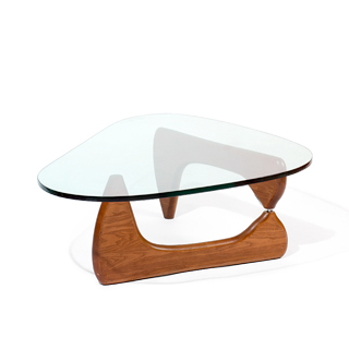 "50""w x 36""d Noguchi Walnut Coffee Table TBL006852"