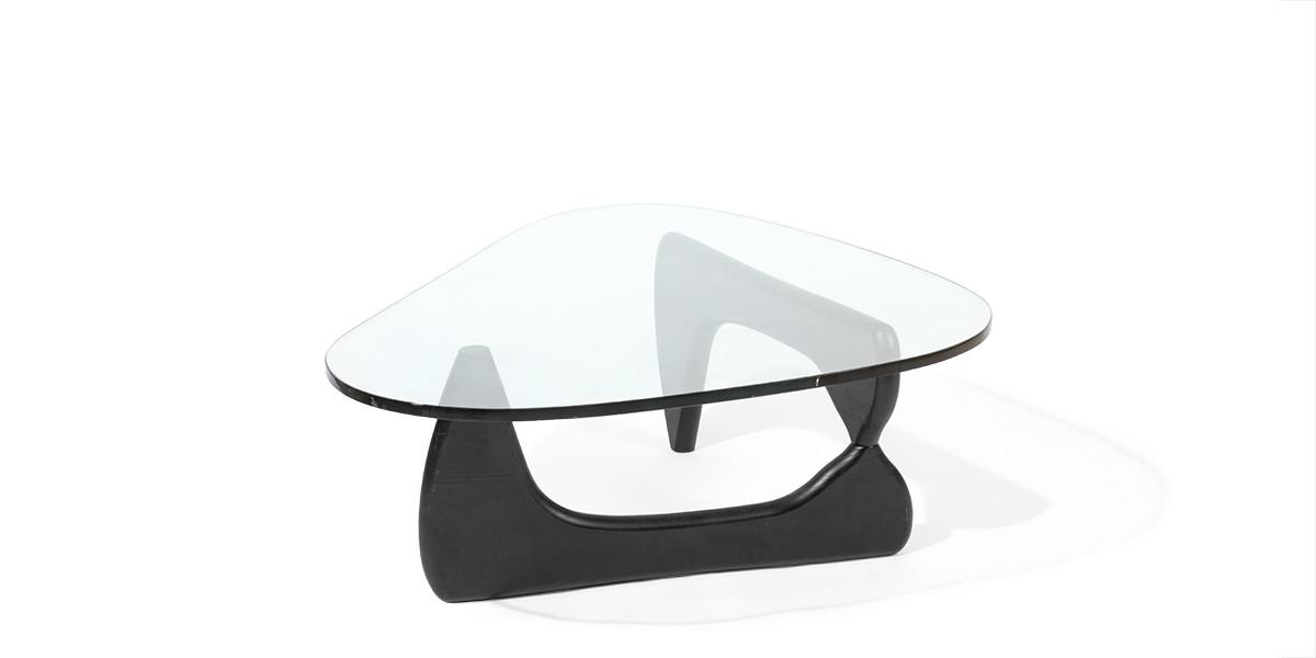 "50""w x 36""d Noguchi Black Coffee Table TBL006853"
