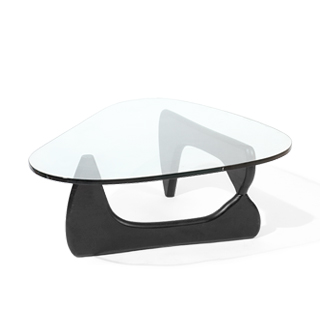 "50""w x 36""d Noguchi Black Coffee Table TBL006853"