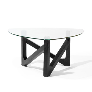 "39""w x 39""d Ebony Coffee Table TBL009215"
