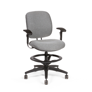 Grey Drafting Stool CHR013693