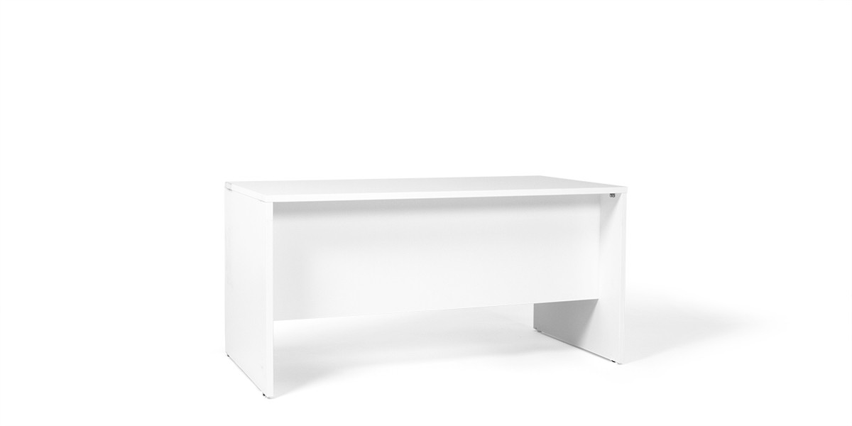"60""w x 30""d White Laminate Desk DSK013719"