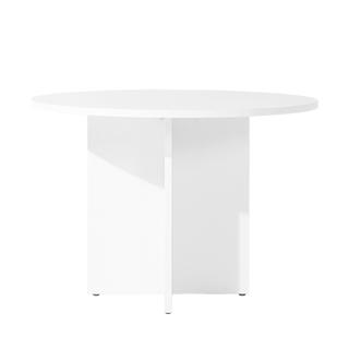 "42""dia White Laminate Round Table TBL013723"