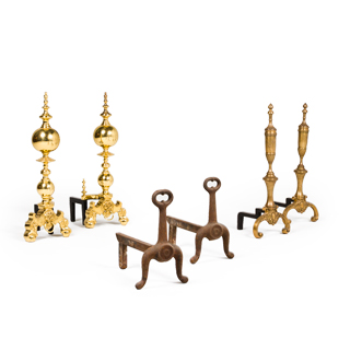 Fireplace Andirons Set
