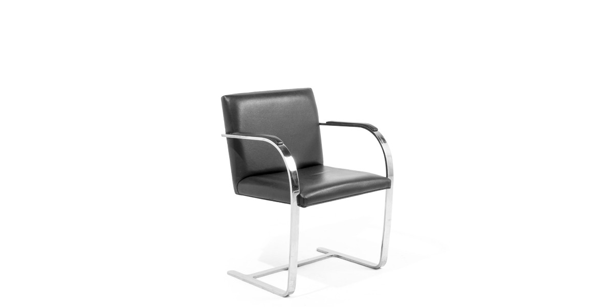 Black Leather Bruno Side Chair CHR006384