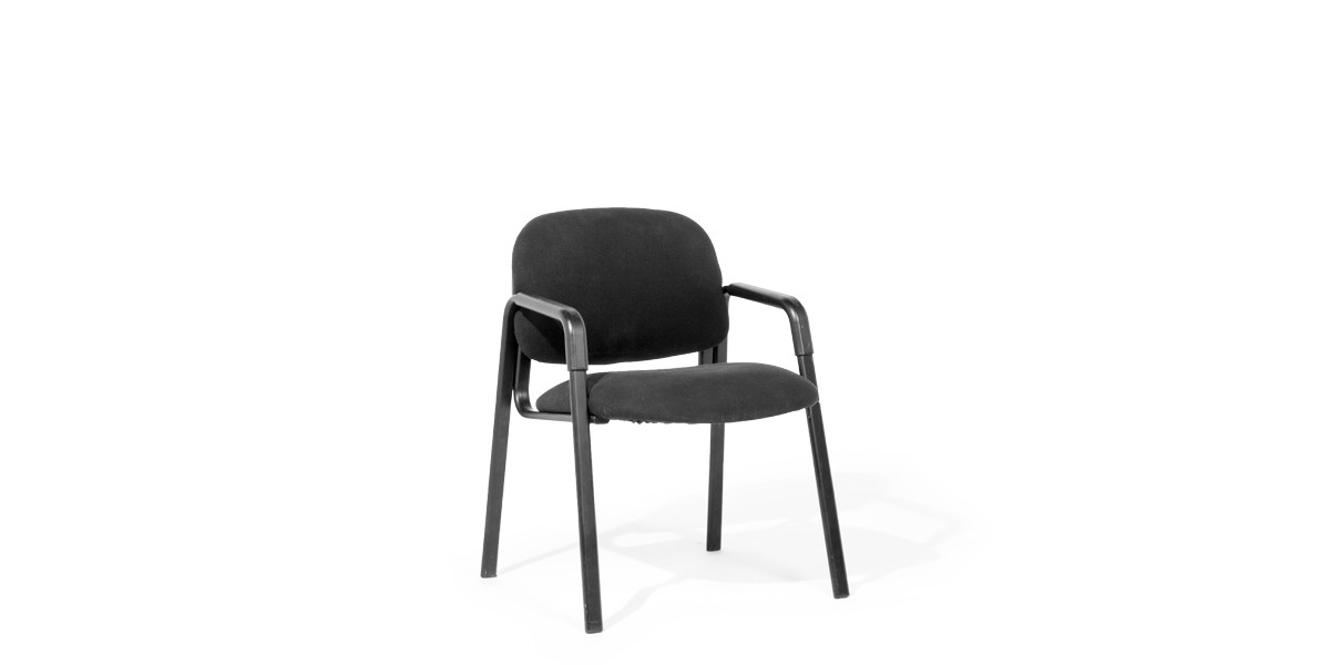 Black Fabric Guest Chair CHR007630