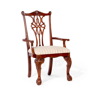 Mahogany Chippendale Arm Chair CHR007821