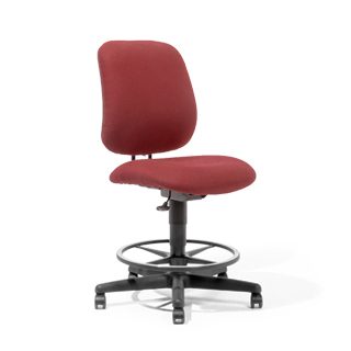 Burgundy Drafting Chair CHR013048