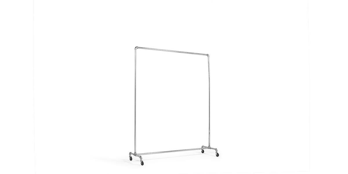"60""w x 72""h Chrome Coat Rack MIS003928"