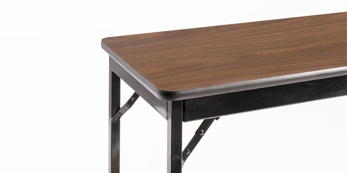 60″w x 18″d Walnut Folding Table TBL005748