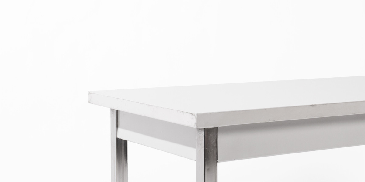"60""w x 20""d Light Grey Laminate Work Table TBL006430"