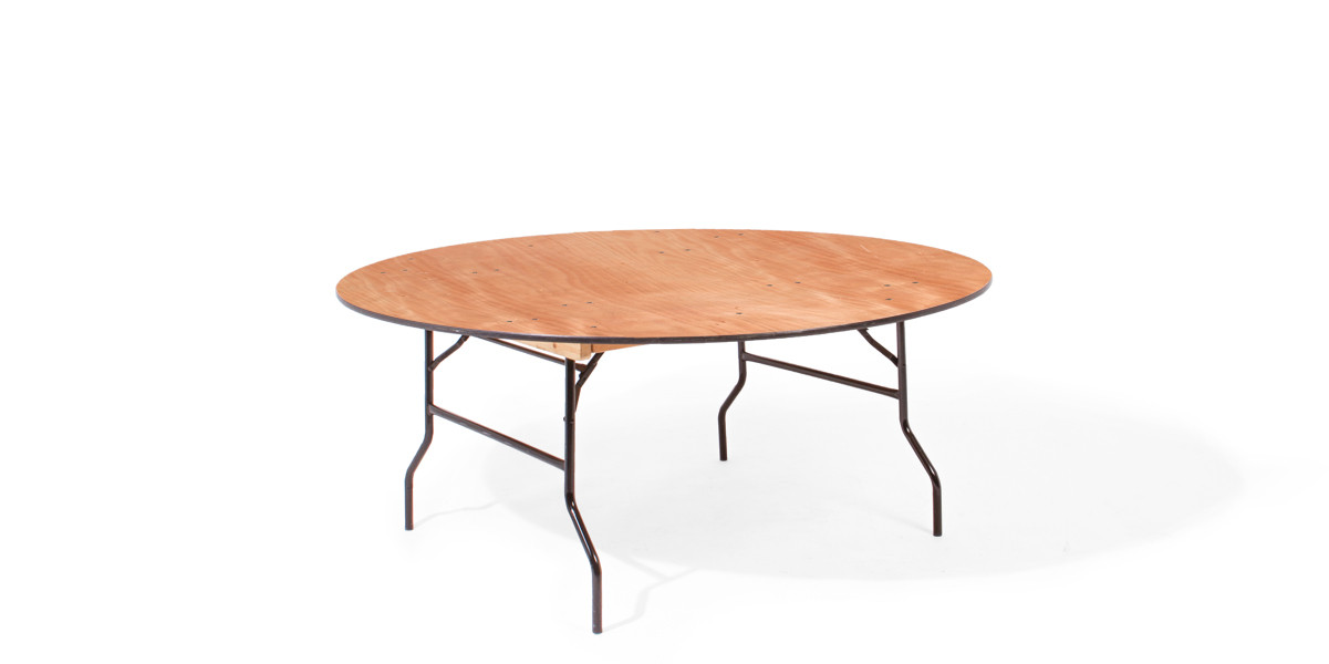 "72""dia x 29""h Wood Round Folding Table TBL007839"