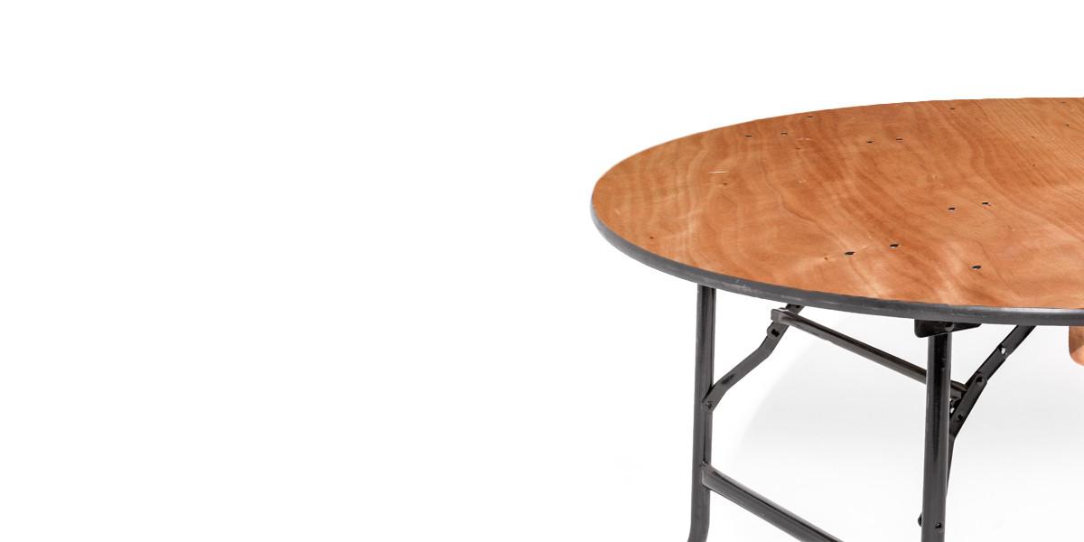 72″dia x 29″h Wood Round Folding Table TBL007839
