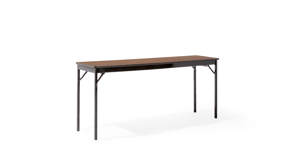 72″w x 18″h Walnut Folding Table TBL008128
