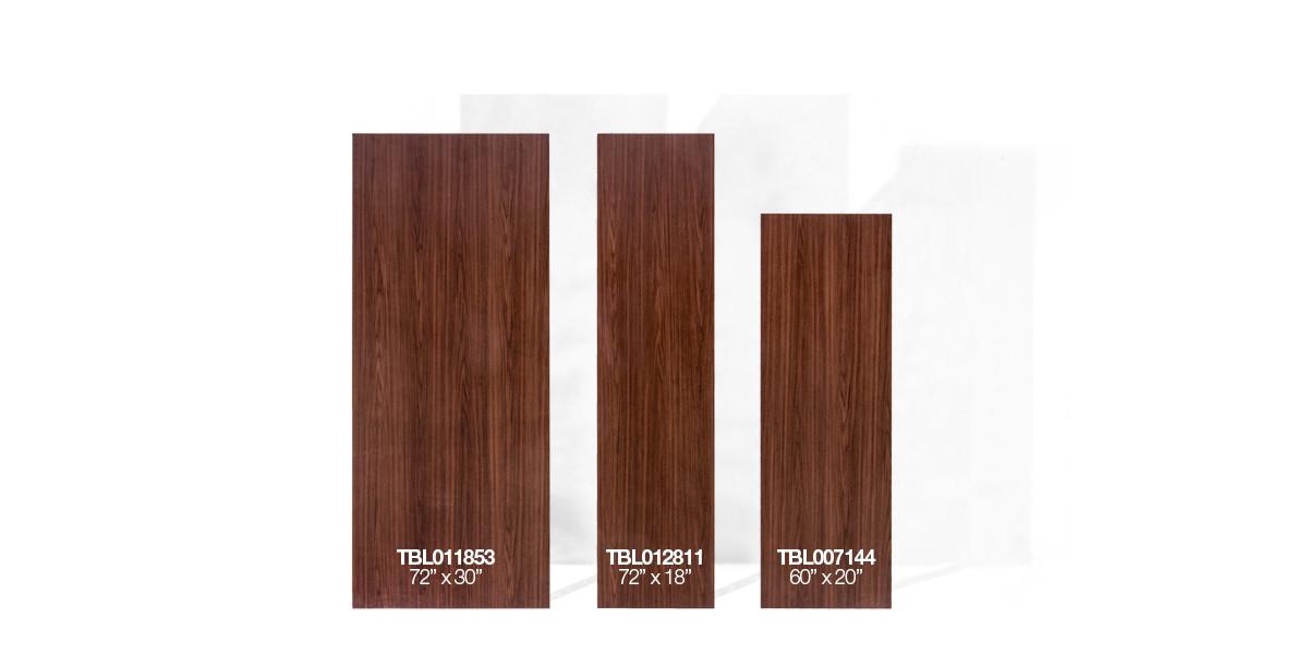 72″w x 30″d Walnut Work Table TBL011853