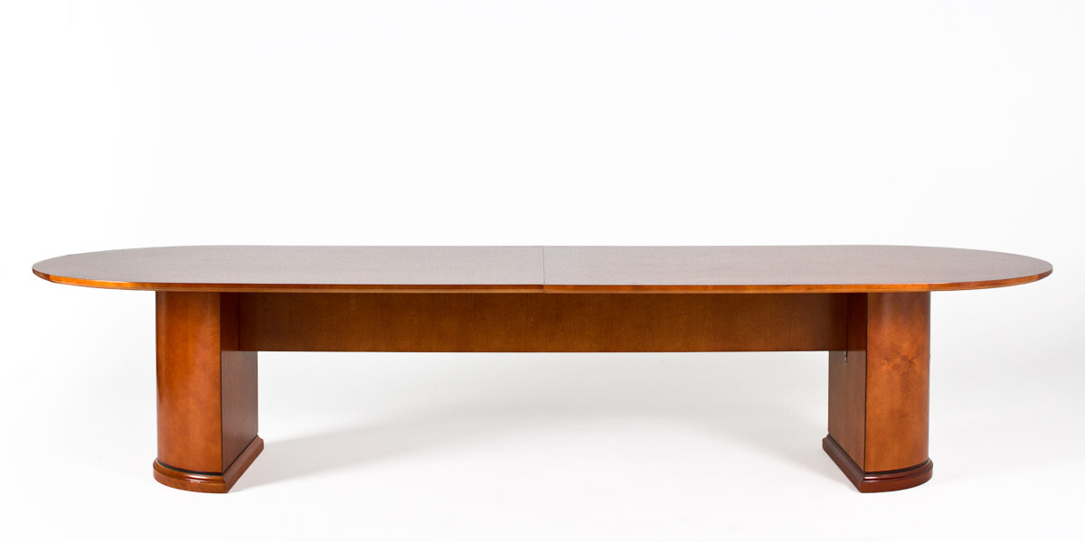 "144""w x 48""d Medium Cherry Racetrack Conference Table TBL011976"