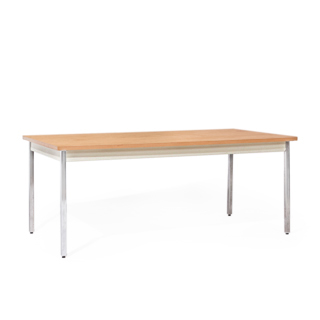 72″w x 36″d Medium Oak Work Table TBL012449