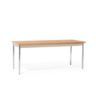 72″w x 29″h Medium Oak Work Table TBL012543