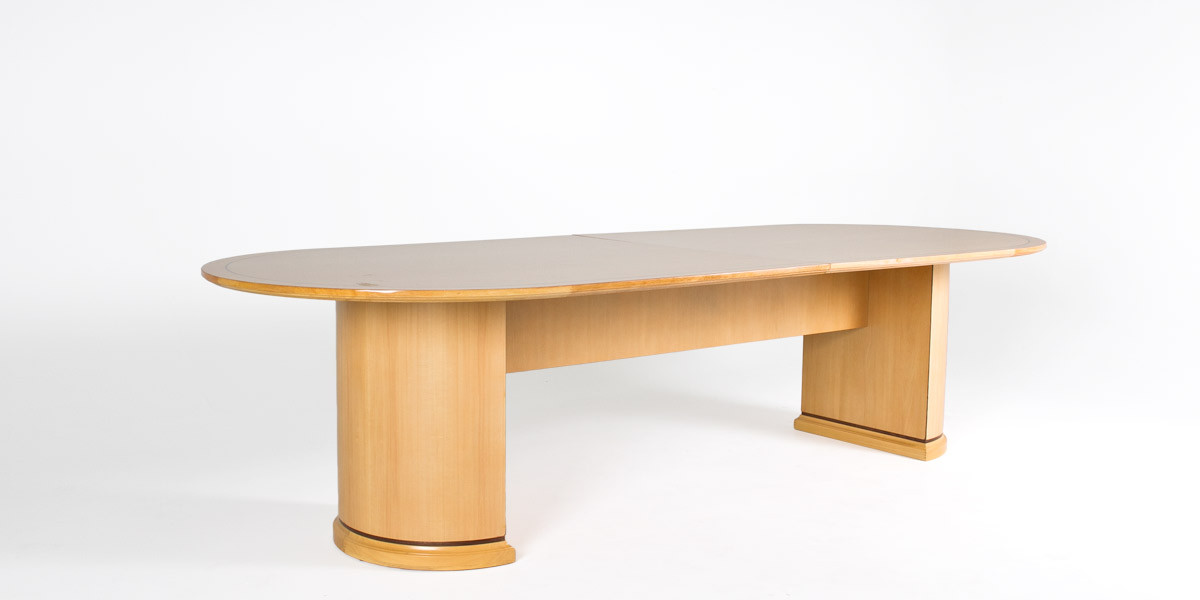 120″w x 48″d Maple Conference Table TBL013015