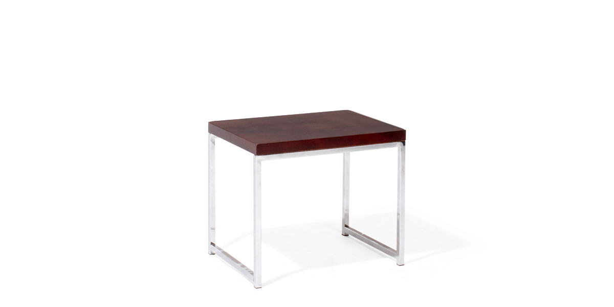 22″w x 15.75″d Chrome End Table TBL013126