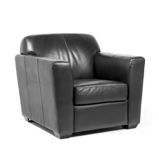 Black Leather Club Chair CHR008550