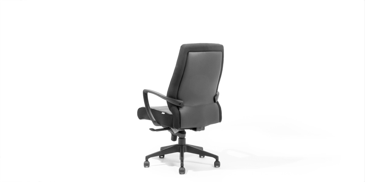 Black Leather Executive Hi-Back Office Chair CHR013754
