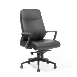 Black Leather Executive Hi-Back Office Chair CHR013754