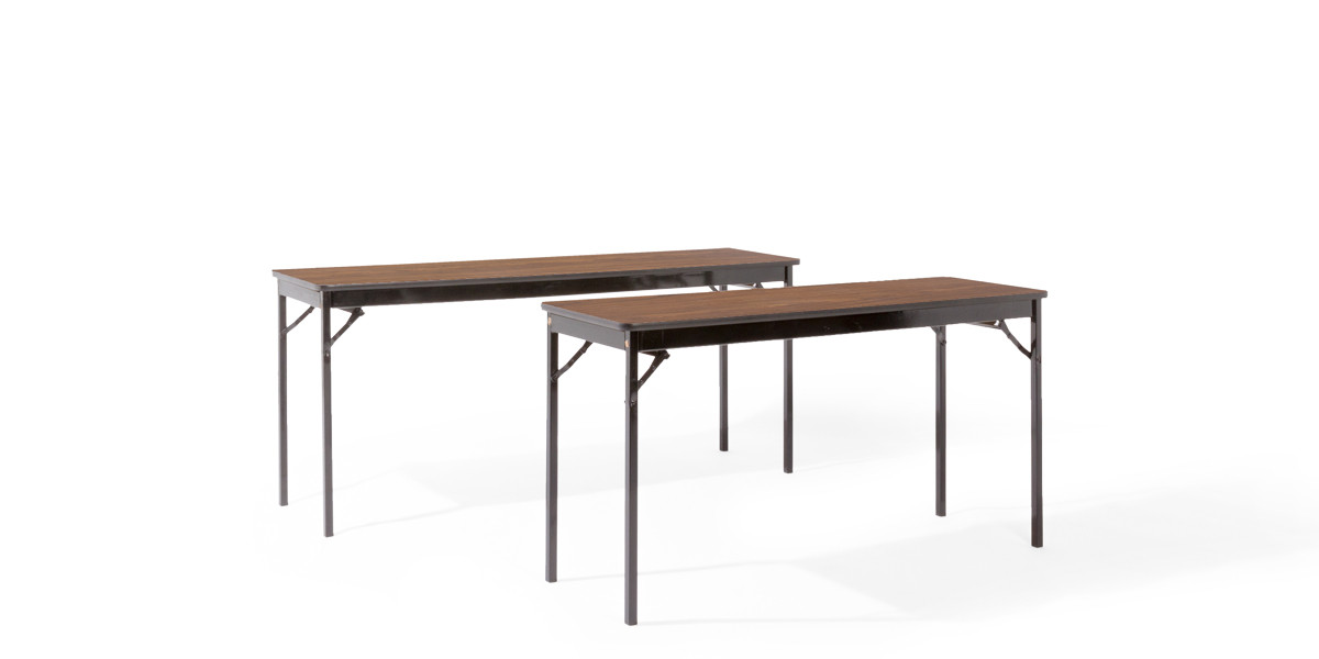 "60""w x 18""d Walnut Folding Table TBL005748"