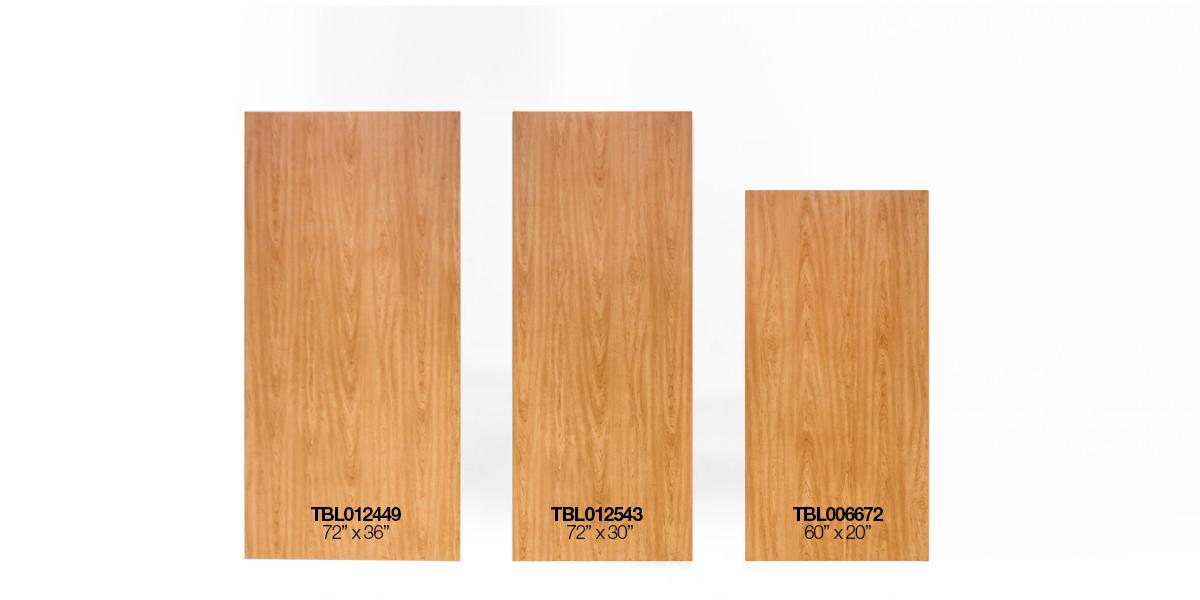 """60""""w x 30""""d Medium Oak Work Table TBL006672"""