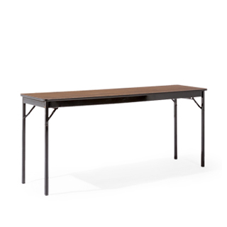 "72""w x 18""h Walnut Folding Table TBL008128"