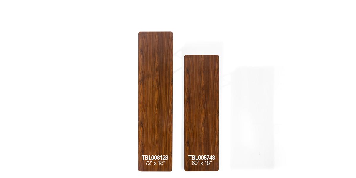 """72""""w x 18""""d Walnut Folding Table TBL008128"""