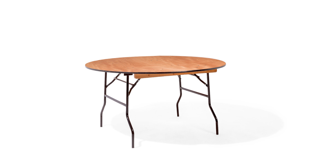 "60""dia x 29""h Wood Round Folding Table TBL012441"