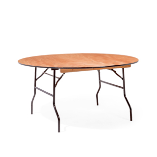 "60""w x 29""h Wood Round Folding Table TBL012441"