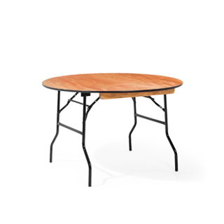 "48""w x 29""h Wood Round Folding Table TBL012769"