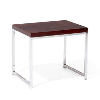 "22""w x 15.75""d Chrome End Table TBL013126"