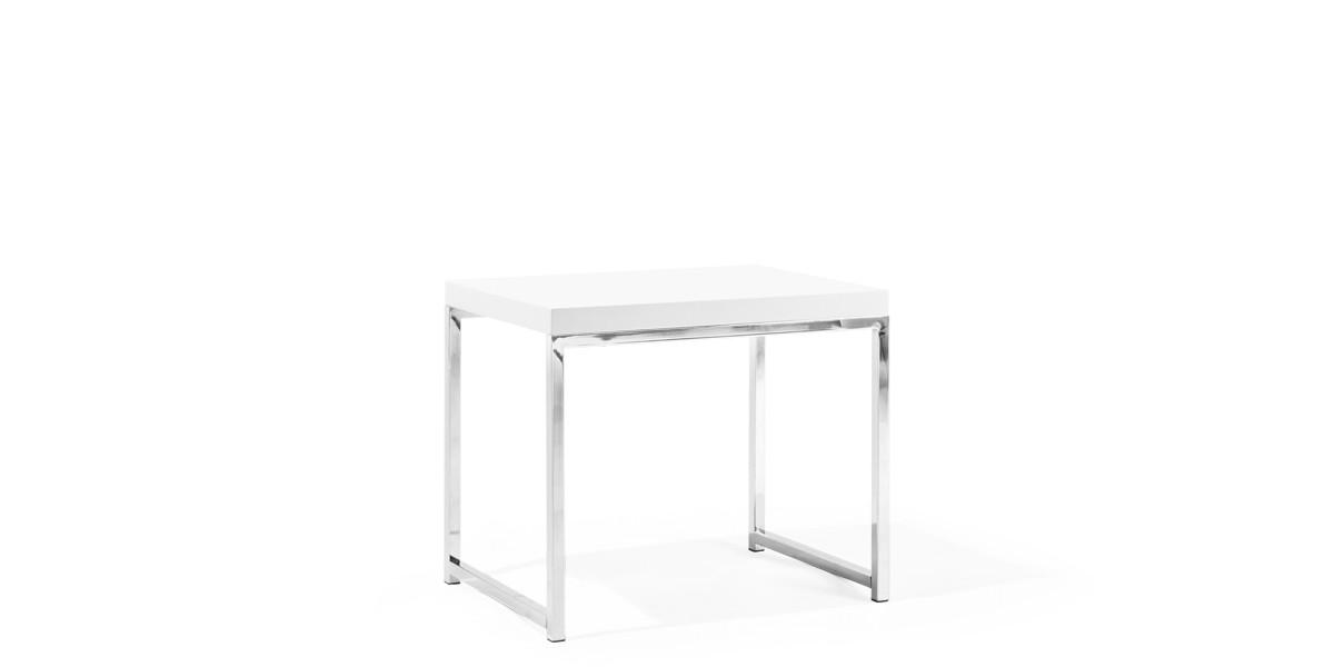 "22""w x 15.75""d White End Table TBL013127"