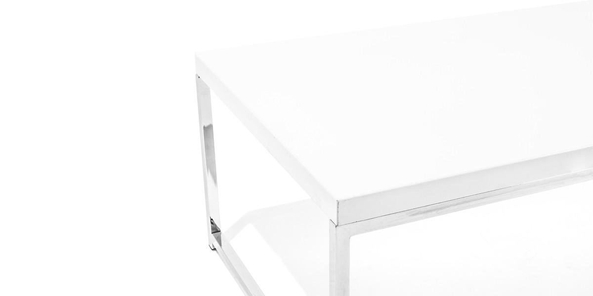 "44""w x 22""d White Coffee Table TBL013216"