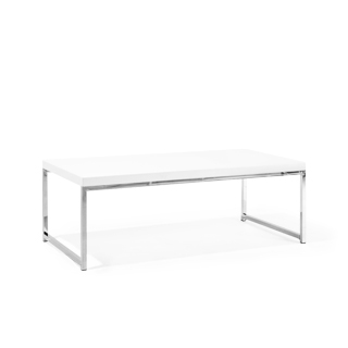 "44""w x 22""d White Coffee Table TBL013216"
