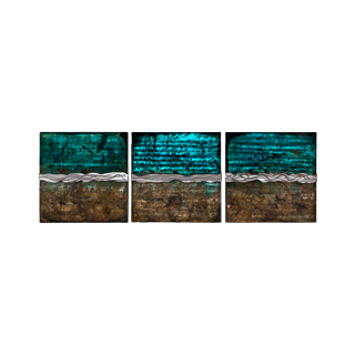 "14""w x 14""h Abstract Art Triptych"