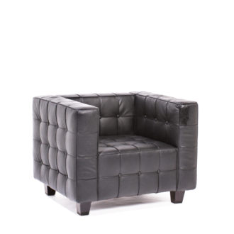 Black Leather Club Chair CHR008889